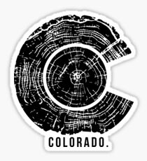 Colorado Tree Rings Sticker