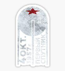 CCCP Sputnik 1 First Satellite - Silver Edition Sticker