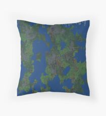Dwarf Fortress Map Throw Pillow
