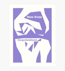 Knee Replacement Operation Congratulations Card Purple by Jenny Meehan Art Print