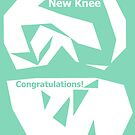 Knee Replacement Operation Congratulations Card Green by Jenny Meehan by Jenny Meehan