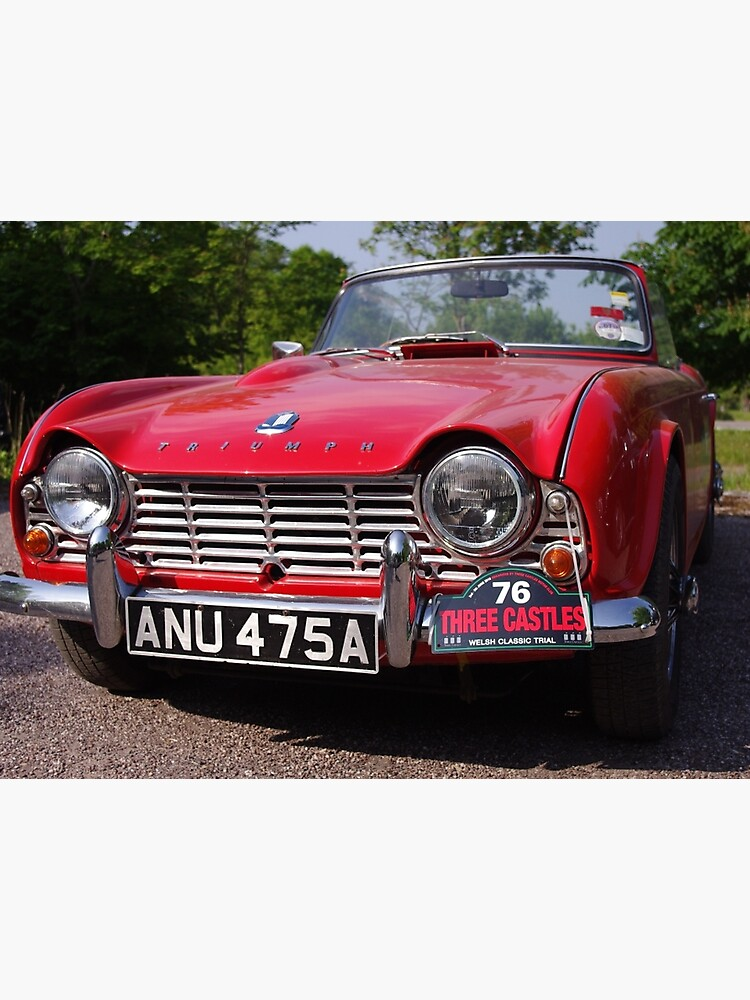 1963 Red Triumph Tr4 Photographic Print By Sparks68 Redbubble