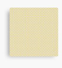 Spicy Mustard Polka Dots Canvas Print