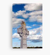 cloudy sky celtic cross Canvas Print