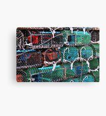 Crab Nets Canvas Print