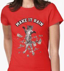 Dollar bills kitten - make it rain money cat Womens Fitted T-Shirt