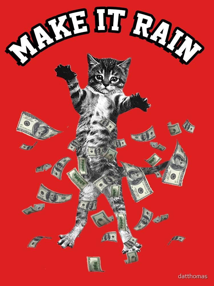 Dollar bills kitten - make it rain money cat | Unisex T-Shirt