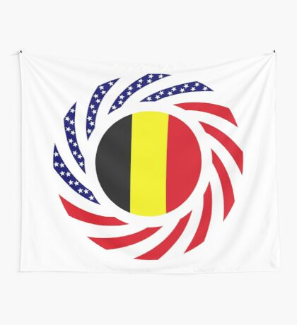 Belgian American Multinational Patriot Flag Series Wall Tapestry