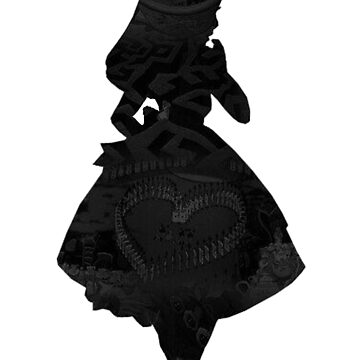 Alice in Wonderland, Black Picture Silhouette by BethannieeJ