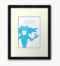 Gremlins Minimalist Series - Lightning Gremlin Framed Print