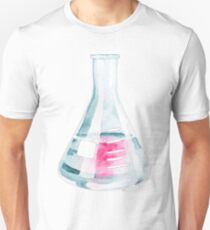 Phenolphthalein: Titration in Watercolor Unisex T-Shirt