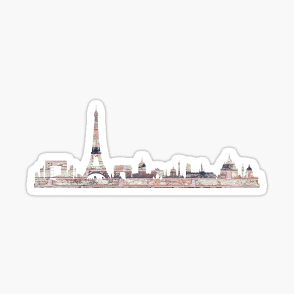 Paris Skyline Sticker