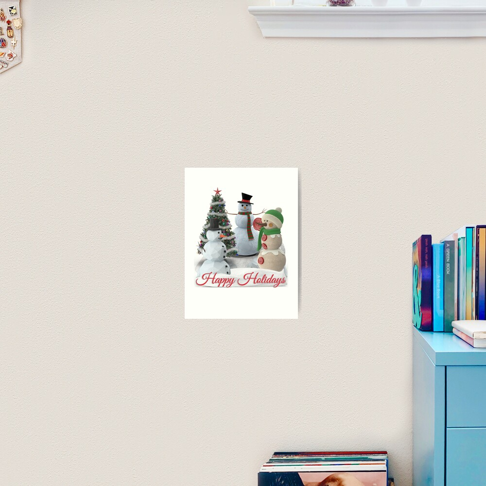 SnowPals Happy Holidays Art Print