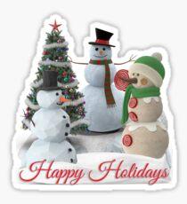 SnowPals Happy Holidays Sticker