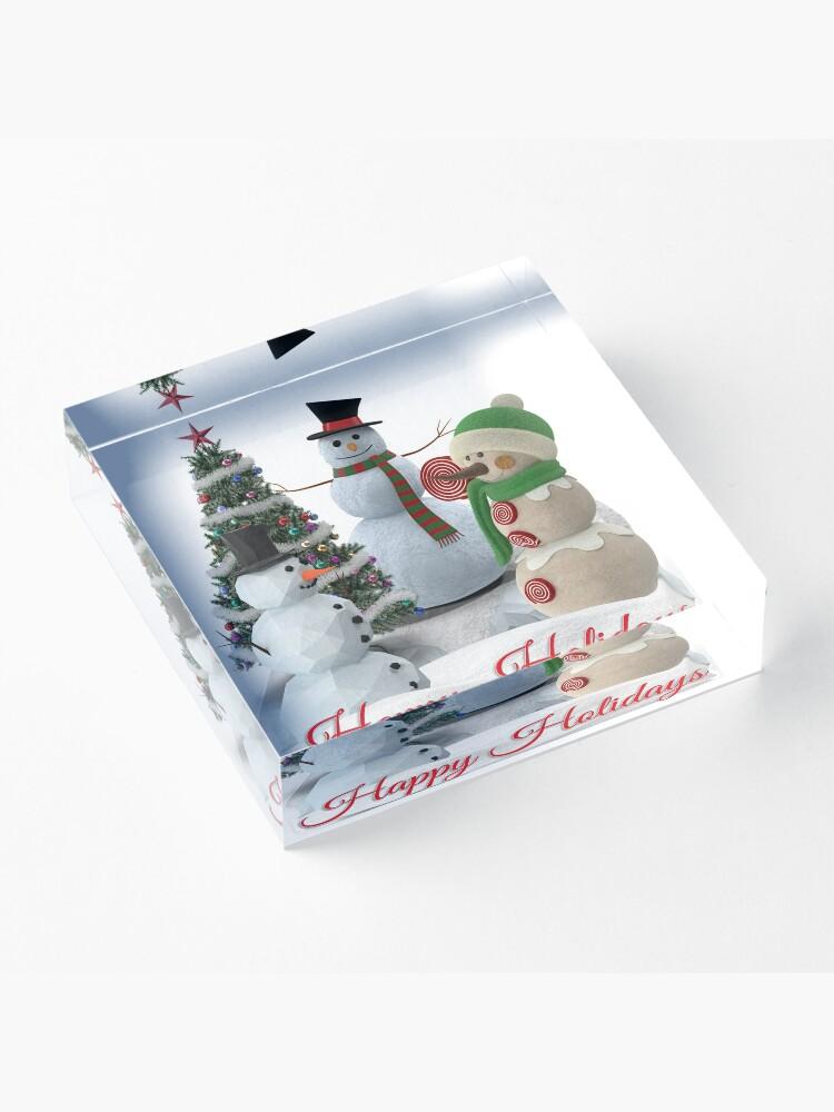 Alternate view of SnowPals Happy Holidays Acrylic Block
