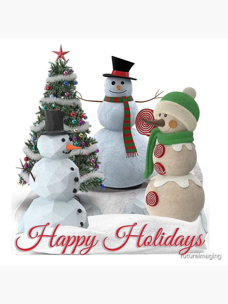 SnowPals Happy Holidays by futureimaging