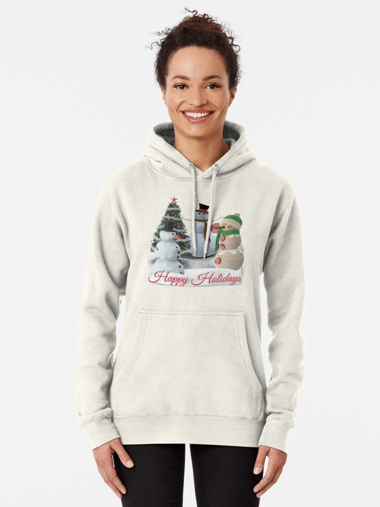 Alternate view of SnowPals Happy Holidays Pullover Hoodie