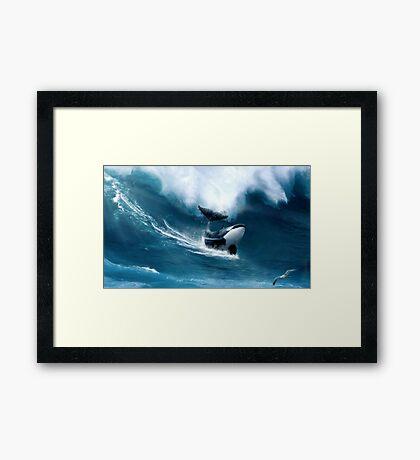 Killer Surf Framed Print