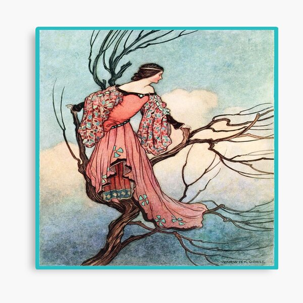 Lady in a Tree Canvas Print