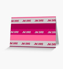 JW.org pinks stripes  Greeting Card