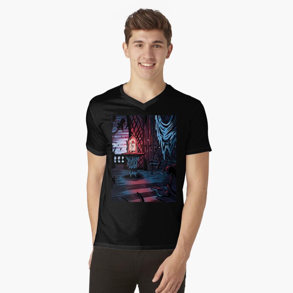 Der Verbotene Westen Flügel T-Shirt mit V-Ausschnitt