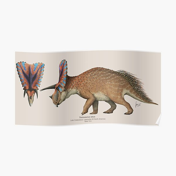 Torosaurus Poster