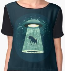 Beware UFO Women's Chiffon Top