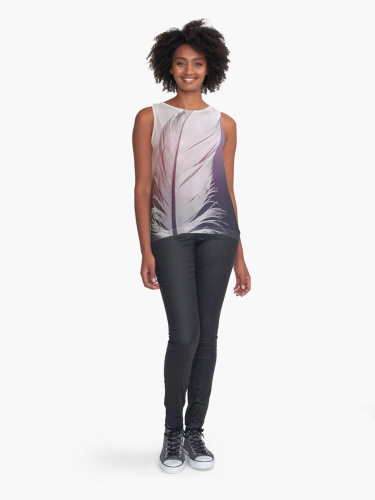 Vista alternativa de Blusa sin mangas Pluma en tonos pastel