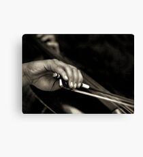 The cellist Canvas Print
