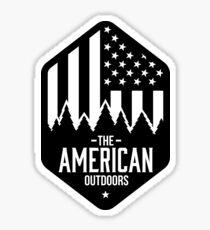 Pegatina Americano al aire libre