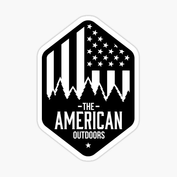American Outdoors Sticker