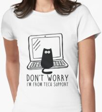 I'm from tech support Women's Fitted T-Shirt