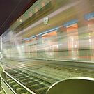 Transparent Trains by Mike Herdering