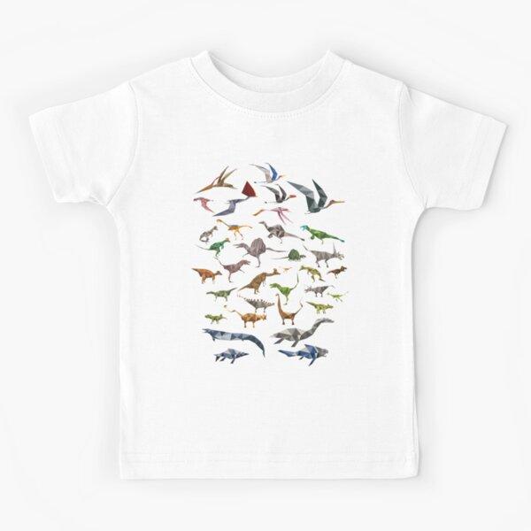 Colored Dinosaurs chart Kids T-Shirt