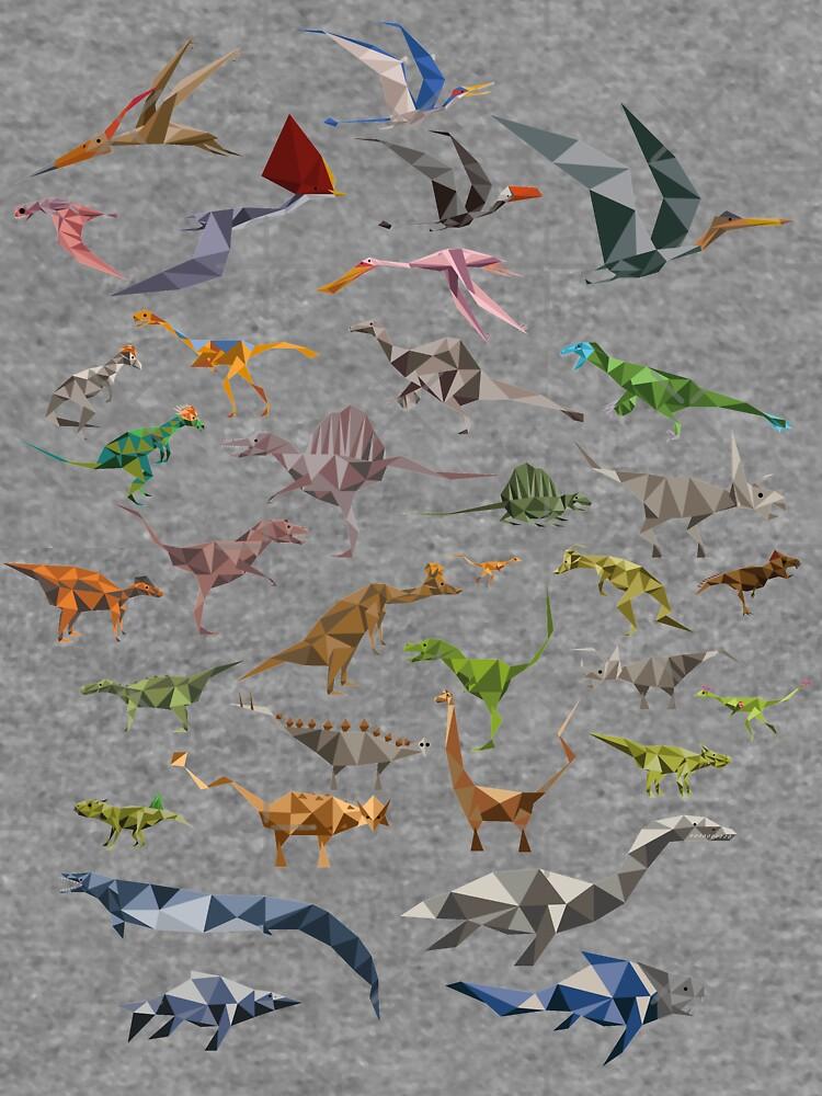 Farbige Dinosaurier-Karte von quickoss