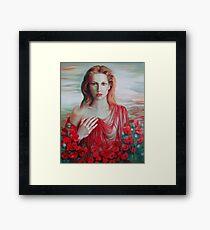 Red ocean Framed Print