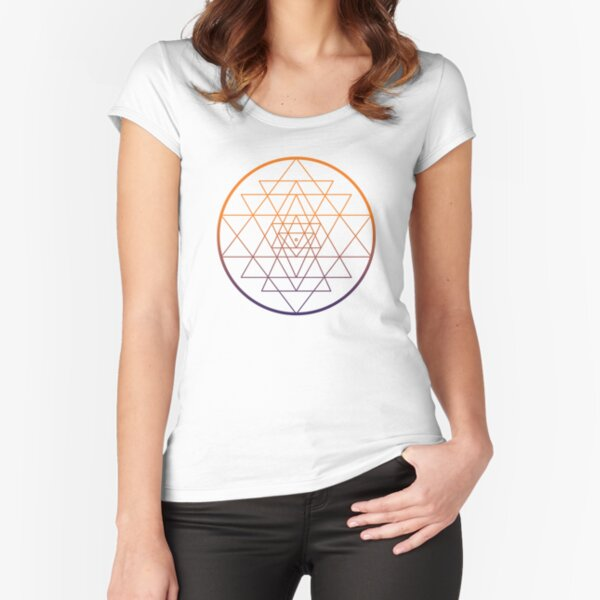 Shri Yantra  Fitted Scoop T-Shirt