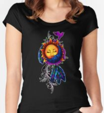 Sun and Moon Dreamcatcher Women's Fitted Scoop T-Shirt