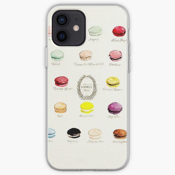 Laduree Macarons Flavor Menu iPhone Soft Case