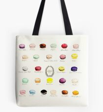 Laduree Macarons Flavor Menu Tote Bag