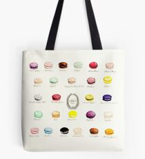 Laduree Macarons Flavor Menu Tote Bag