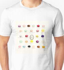 Laduree Macarons Flavor Menu Unisex T-Shirt
