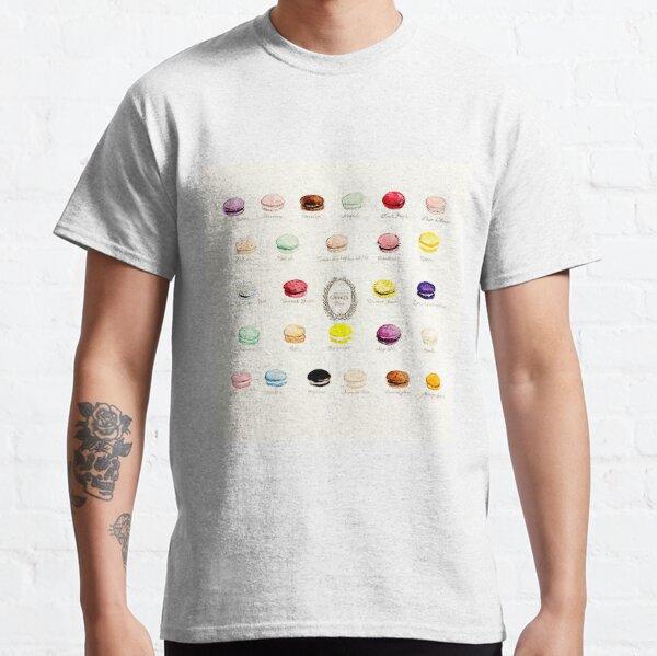 Laduree Macarons Flavor Menu Classic T-Shirt