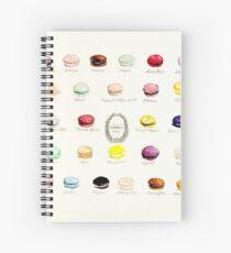 Laduree Macarons Flavor Menu Spiral Notebook