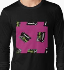 Bride of Frankie Repeat Toss in Lipstick Magenta Long Sleeve T-Shirt