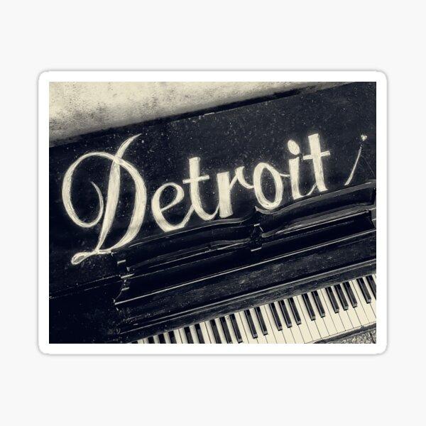 Detroit Piano Sticker