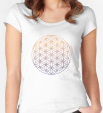 Camiseta entallada de cuello ancho La flor de la vida