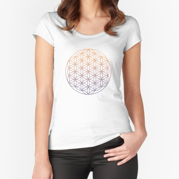 Flower of Life Fitted Scoop T-Shirt