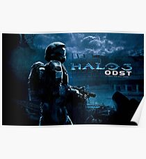 Halo 3 ODST with text Poster