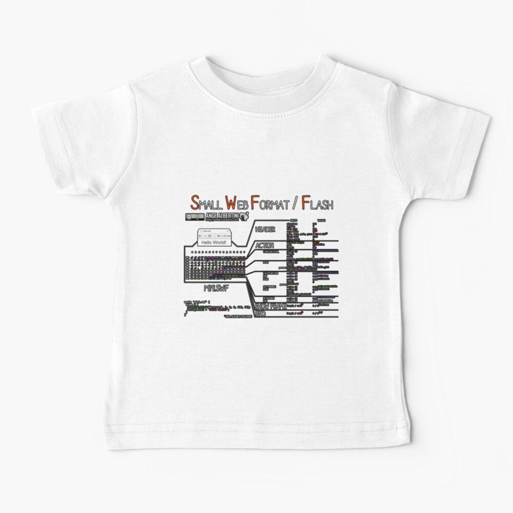 a mini Flash (white text) Baby T-Shirt